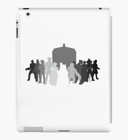 enemies of the doctor iPad Case/Skin
