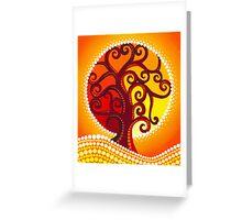 Firey illuminated orb tree Greeting Card