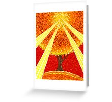 Fingers of god illuminated tree Greeting Card