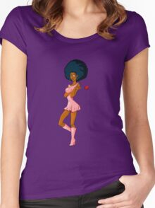 CANDY GIRL Women's Fitted Scoop T-Shirt