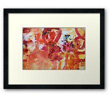 color mix Framed Print