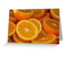Orange Squash Greeting Card