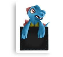 Pocket Totodile Canvas Print