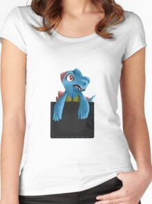 Pocket Totodile Women's Fitted Scoop T-Shirt