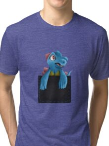 Pocket Totodile Tri-blend T-Shirt