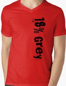 18% Grey Mens V-Neck T-Shirt
