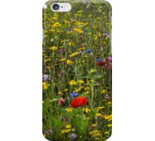 Poppy And Wildflowers iPhone Case/Skin