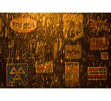 garage door night snow poynings  Photographic Print