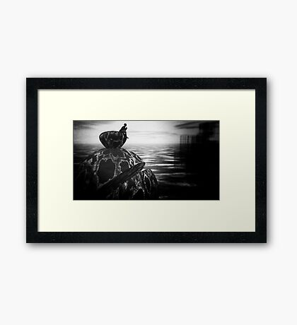 Sci Fi meditation on Life, the Universe, and Everything Framed Print