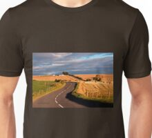Winding Road Across the Golden Fields, Aberdeenshire, Scotland Unisex T-Shirt