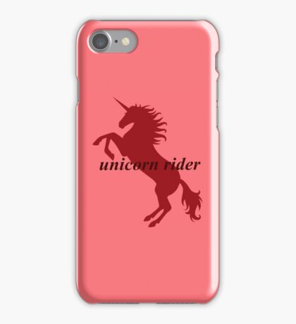 Unicorn Rider Red iPhone Case/Skin