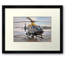 Suffolk Police Helicopter Framed Print