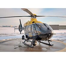 Suffolk Police Helicopter Photographic Print