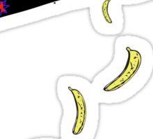 banana plane tshirt by rogers bros construction co Sticker