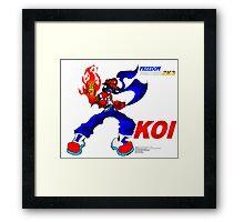 Freedom Fighters 2K3 Koi Framed Print
