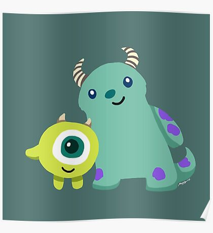 Monster Inc Mike and Sulley Poster