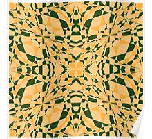 Yellow and green marble Poster
