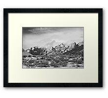 Split Mountain B&W Framed Print