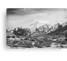 Split Mountain B&W Canvas Print