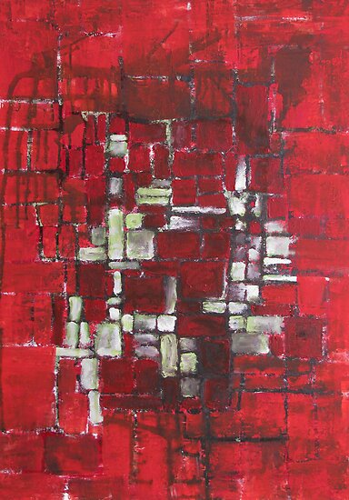 My christmas abstract painting by Sanne Thijs