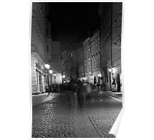 Night Scene on a Prague Street Poster