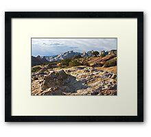 Split Mountain Country Framed Print