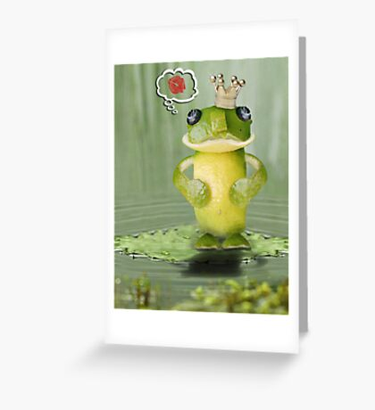 The Lime-Frog 'Kiss Scam' Exposed! Greeting Card