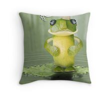 The Lime-Frog 'Kiss Scam' Exposed! Throw Pillow