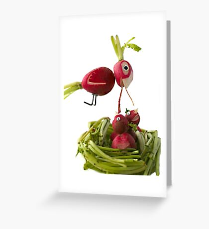Radish Cardinal Greeting Card