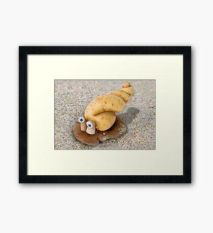Cassavalus Shiitakilis - the Veggie Sea Snail Framed Print