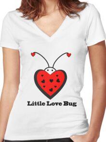 Little Love Bug Women's Fitted V-Neck T-Shirt
