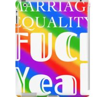 Marriage Equality  iPad Case/Skin