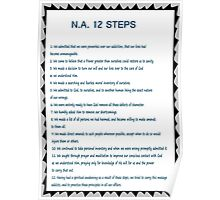 Narcotics Anonymous 12 Step Poster Poster