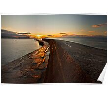 Sunrise over the Lyme Regis Cobb Poster
