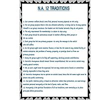 Narcotics Anonymous 12 Tradition Poster Photographic Print