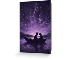 Lovers under a starlit sky Greeting Card