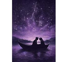 Lovers under a starlit sky Photographic Print