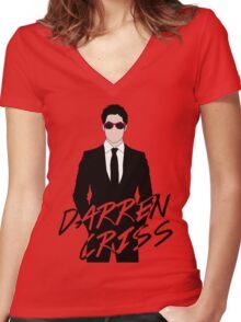 Darren Criss Pink Women's Fitted V-Neck T-Shirt