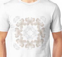 Gilded Rings of Butterflies Pale Cyan Green Unisex T-Shirt