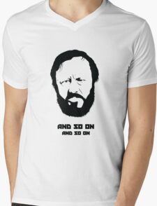 Slavoj Žižek - Portrait Mens V-Neck T-Shirt