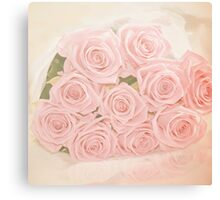 Roses are pink my love Canvas Print
