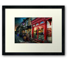 The Deli Cafe Framed Print