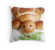 Turtle Bread Throw Pillow