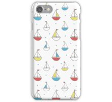 Little Sailboats Simple iPhone Case/Skin