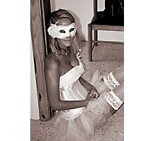 Venetian Mask, Corset and Stockings. Photographic Print