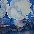 "Gouache Painting. Purple Planet. 27"" x 27"" 1988  by Igor Pozdnyakov"