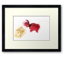 Radish Mice Framed Print
