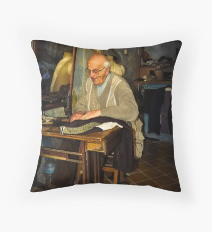 Old Tailor Gozo Throw Pillow