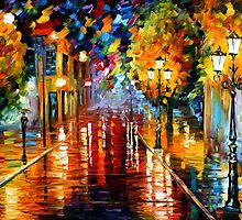 improvisation of Lights - original oil painting on canvas by Leonid Afremov by Leonid  Afremov