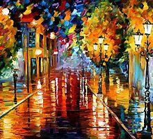improvisation of Lights - original oil painting on canvas by Leonid Afremov by Leonid  Afremov